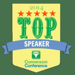 Conversion Conference Top Speaker 2014 joel harvey